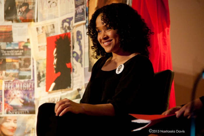 Dione Carroll in the The Vagina Monologues, March 30, 2013.