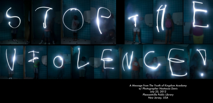 Photographic Light Painting Collaboration with Nastassia Davs & Kingdom Academy Students.